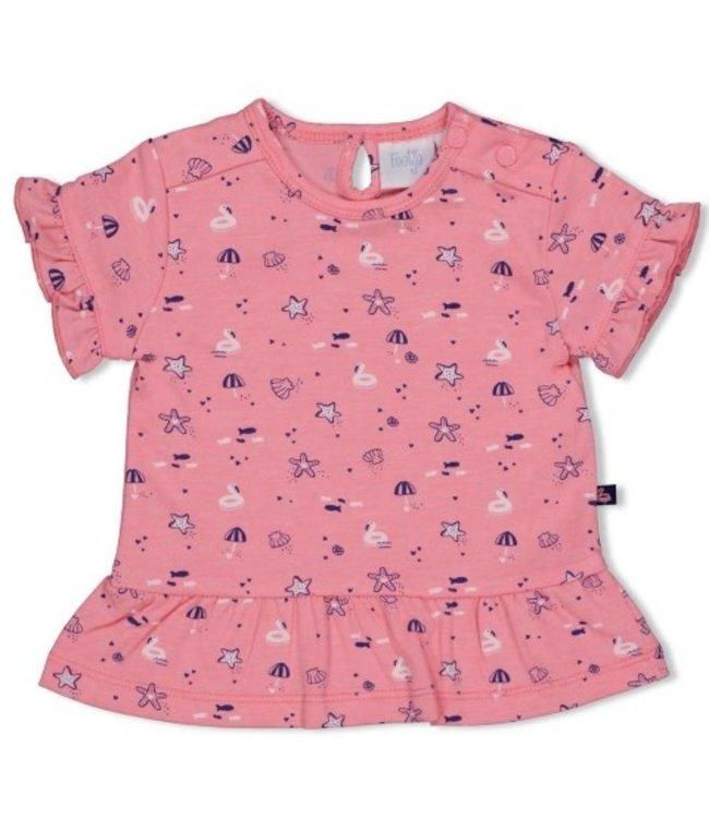 Feetje T-shirt AOP - Seaside Kisses Roze