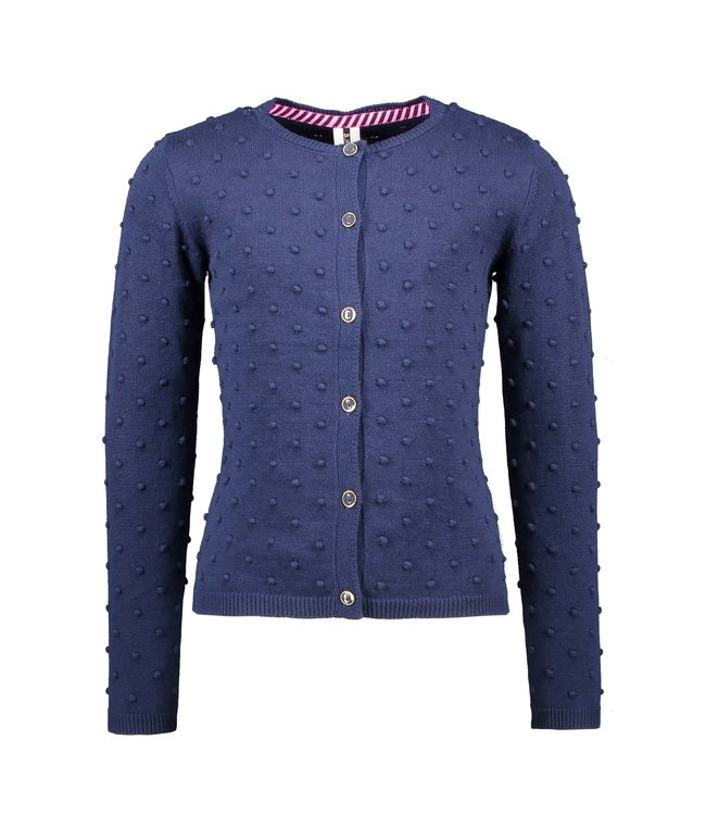 B.Nosy Bnosy Girls fine jaquard knitted cardigan with button closure Y102-5312
