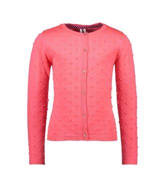 B.Nosy Bnosy Girls fine jaquard knitted cardigan with button closure Y102-5331