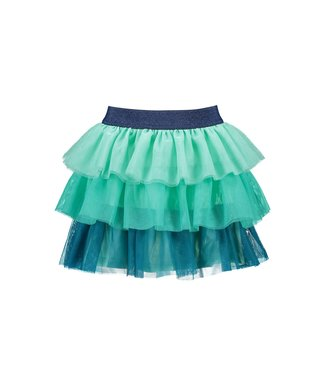 B.Nosy Bnosy  Girls layered mesh skirt Tropical green Y102-5732 324