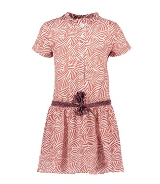 B.Nosy Bnosy Girls mix zebra aop woven dress with contrast belt Y102-5820