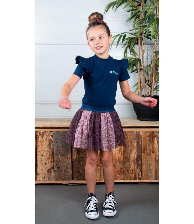 B.Nosy Bnosy Girls dress with aop mesh skirt Y102-5822