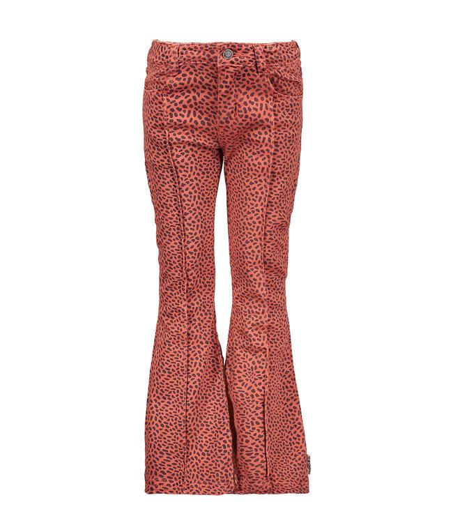 B.Nosy Bnosy Girls aop mix dots flaired denim pants Y102-5620