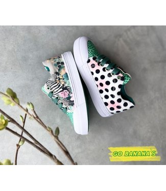 Shoesme Go banana's gympen zebra green