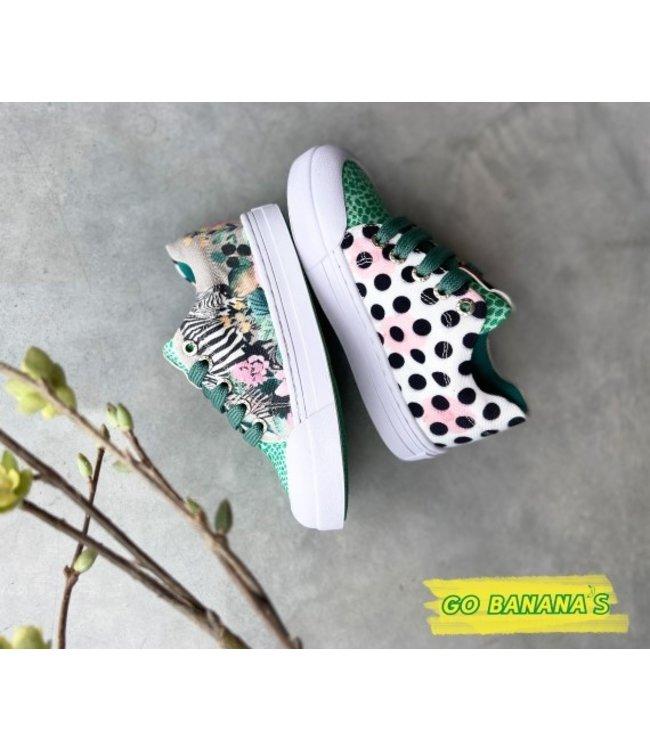 Shoesme Go banana's gympen zebra green
