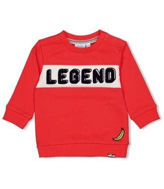 Feetje Feetje Sweater - Playground rood  51601695