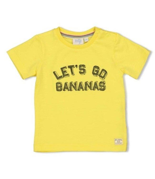 Feetje Feetje T-shirt Let's Go - Playground Geel 51700637