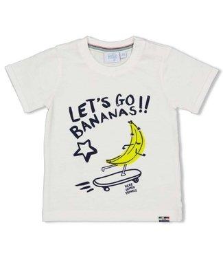 Feetje Feetje wit T-shirt Let's Go - Playground 51700635