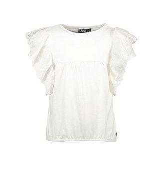 Like Flo Flo girls jersey broidery anglais ruffle top offwhite  f102-5430 001