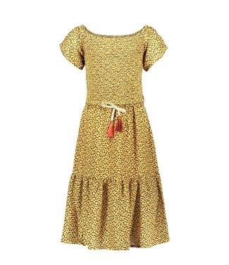 Like Flo Flo girls AO woven smock maxi dress F102-5814 panter
