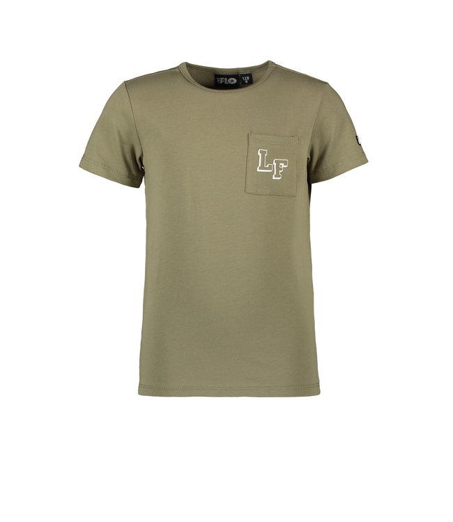 Like Flo Flo boys jersey tee chestpocket army f102-6400 355