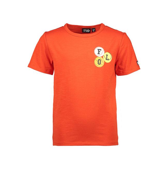 Like Flo Flo boys jersey tee chest artwork orange f102-6403 273