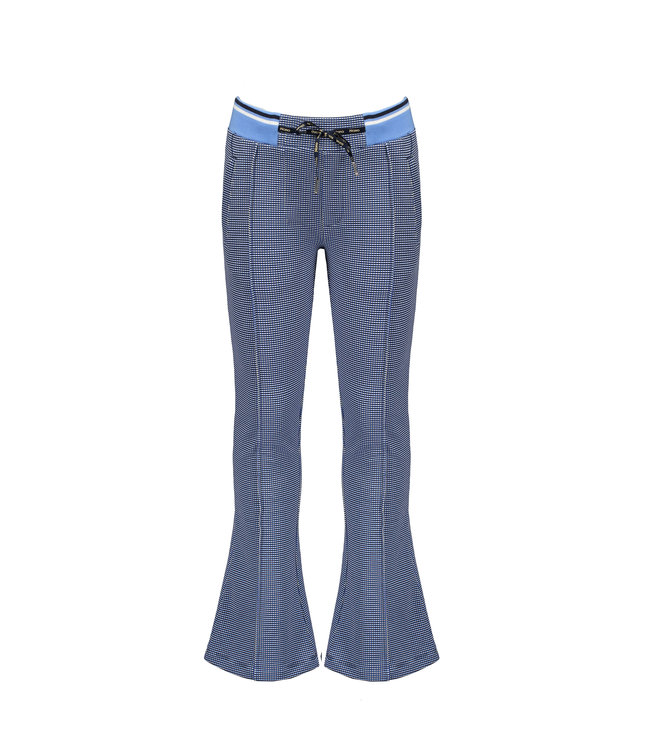 NoNo Nono Sahara flared pants in Gingham AOP check N102-5601