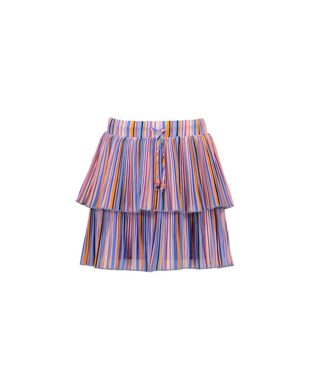 NoNo Nono Nikkie 2 layered short skirt in Bright Stripes N102-5702