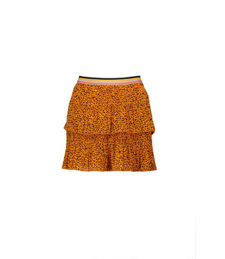 NoNo Nono NikkieB 2 layered short skirt in Pebblestone AOP N102-5704
