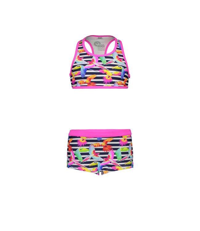 Just Beach Girls sporty tropical flowers ao bikini J102-5022