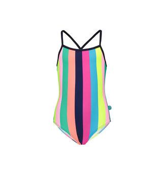 Just Beach Girls tropical stripes ao swimsuit J102-5027