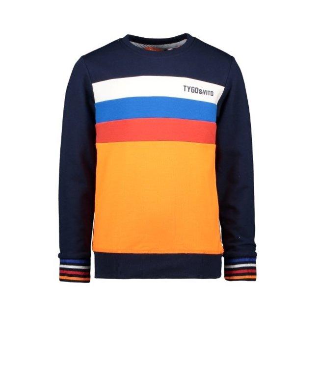 Tygo & Vito T&v sweater colourblock X102-6322