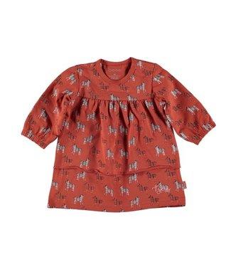 Bess Bess Dress l. sl. AOP Zebra 21023-040
