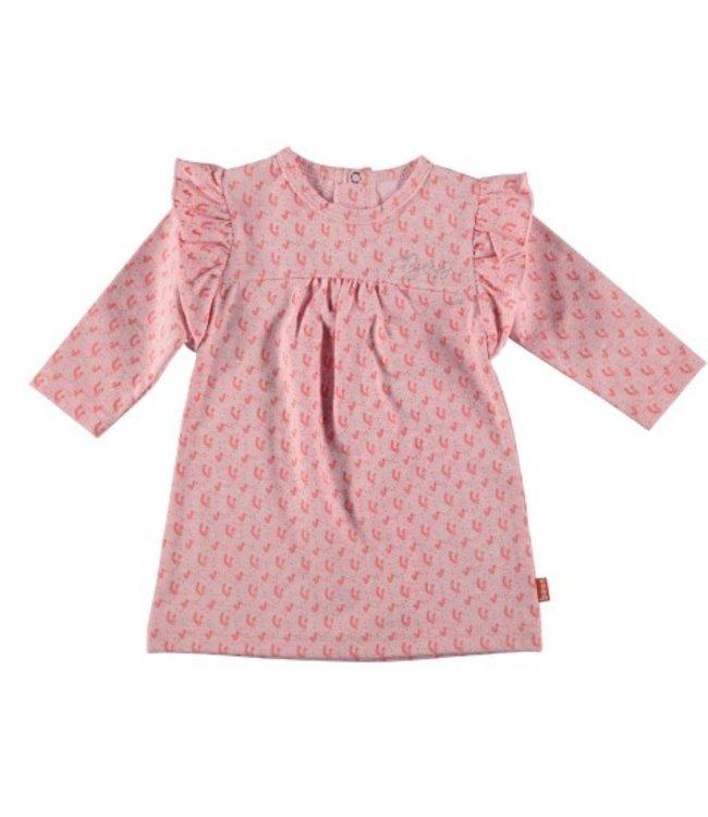 Bess Bess Dress l. sl. AOP Flower Ruffles 21021-007