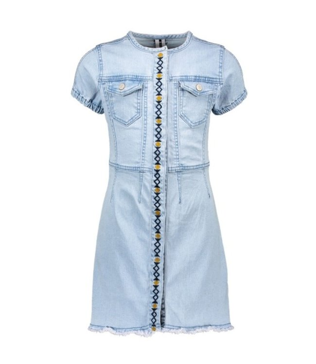 B.Nosy Girls denim dress with emrboidered placket Y102-5840