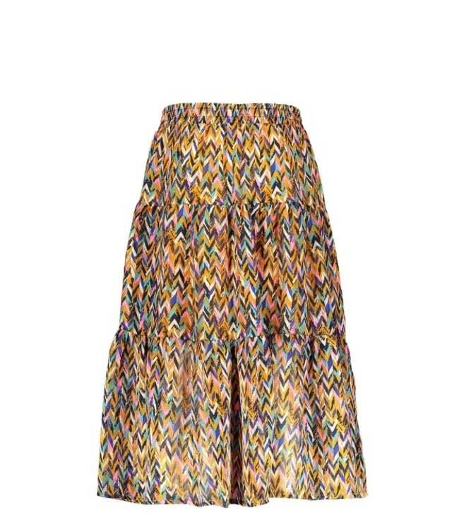 B.Nosy Girls curious aop woven midi skirt Y102-5740