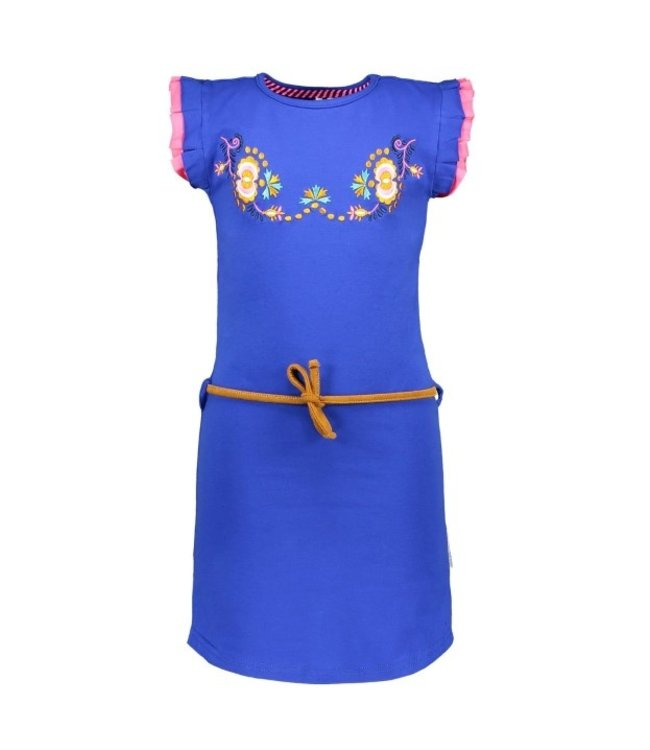 B.Nosy Girls dress with flower embro on chest and fancy cord Y102-5845