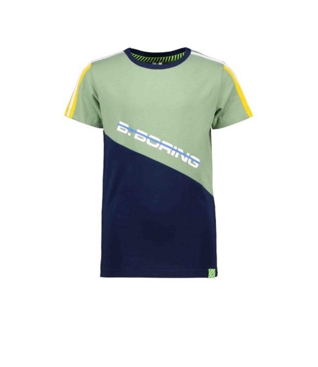 B.Nosy Boys short sleeve with slanted cut and sew partk Hunter green Y102-6412