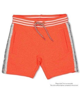 Feetje Sturdy Short neon koraal- Happy Camper  72100093
