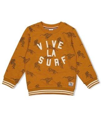 Feetje Sturdy Sweater okergeel AOP - Happy Camper 71600423