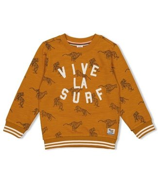 Sturdy Sturdy Sweater okergeel AOP - Happy Camper 71600423