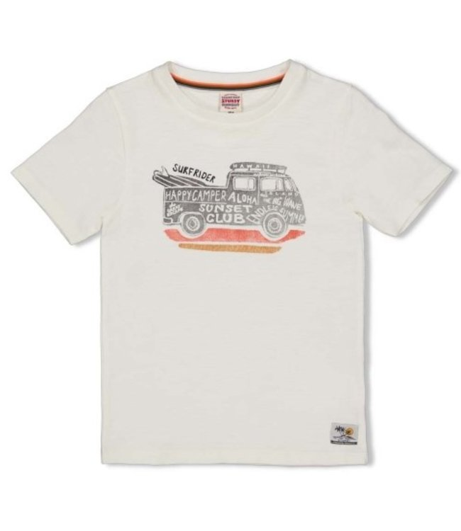 Feetje Sturdy T-shirt offwhite - Happy Camper 71700309