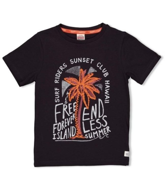 Sturdy Sturdy T-shirt - Happy Camper Antraciet 71700318