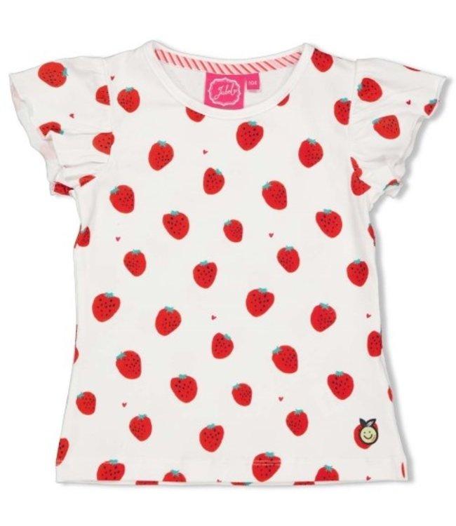 Jubel Jubel T-shirt AOP - Tutti Frutti Wit 91700297