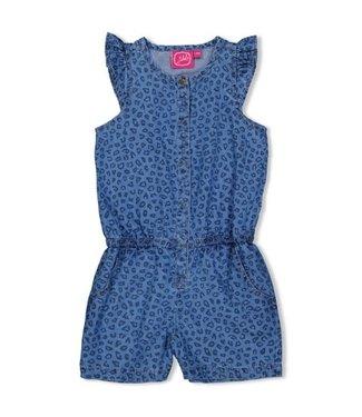 Jubel Jubel Jumpsuit kort AOP - Summer Denims Blue denim 92000040