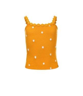 LOOXS 10Sixteen rib singlet with daisy sunflower 2112-5462 58