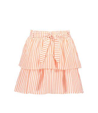 Like Flo Flo girls AO woven 2 layer skirt + belt F103-5712 261 Neon stripe