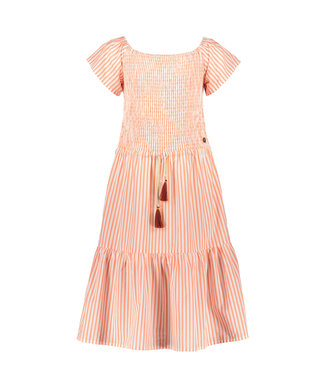Like Flo Flo girls AO woven smock maxi dress  F103-5814 261 Neon stripes