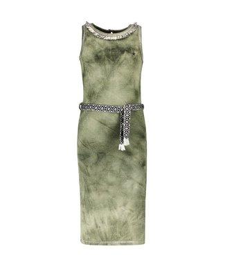 Like Flo Flo girls waffle bleach maxi singlet dress F103-5875 355