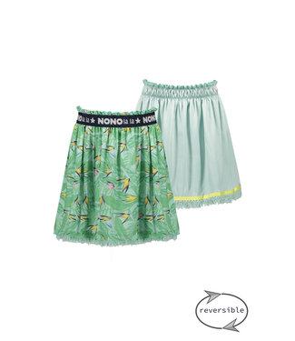NoNo Nono Nele reversible skirt Parrot leaves on mesh N103-5707