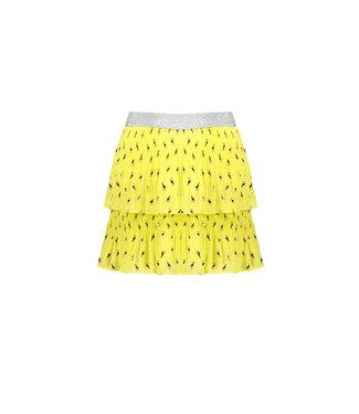 NoNo Nono NikkiB 2 layered plisse skirt in Toucan AOP  N103-5704