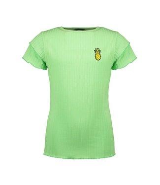 NoNo Nono Kiki ssl rib jersey basic with ruffled edges at sleeve and hem N103-5403
