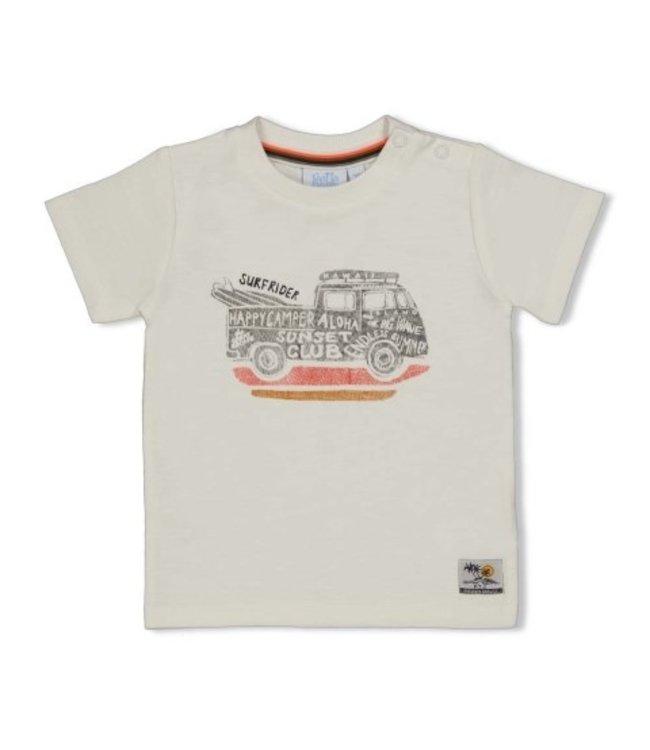 Feetje T-shirt - Happy Camper Offwhite 51700639