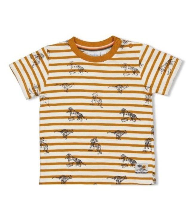 Feetje T-shirt streep - Happy Camper Okergeel 51700642