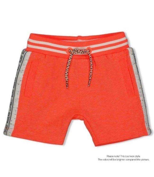 Feetje Short - Happy Camper Neon Koraal 52100251