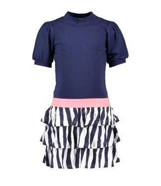 B.Nosy B.Nosy Girls dress zebra skirt y102-5831 146