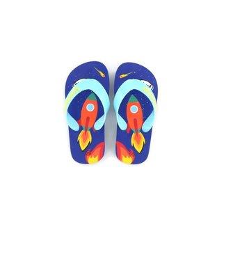 Shoesme Go Banana slipper ROCKET-SL BLUE ORANGE