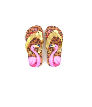 Shoesme Go Banana  slipper FLAMINGO-SL leopardo pink