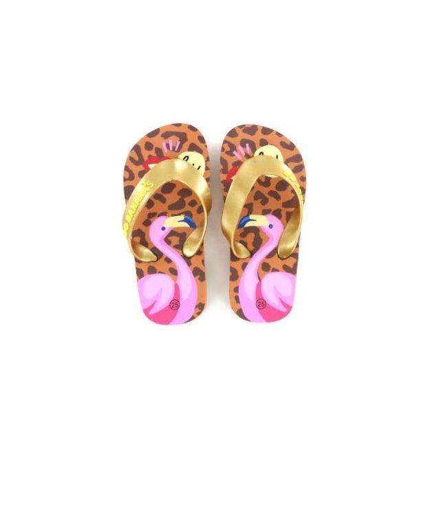 Shoesme Go Banana  slipper FLAMINGO-SL leopardo pink