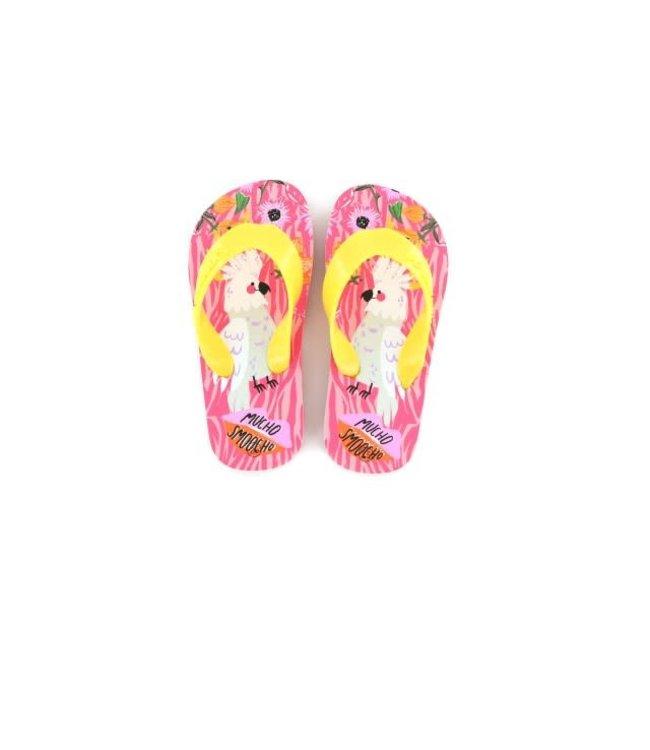 Shoesme Go Banana slipper SMOOCHO-SL Pink Yellow
